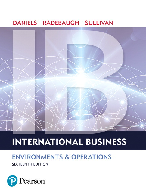 International Business, 16th Edition by John Daniels EBOOK PDF Instant  Download - Textbook eBook PDF Download